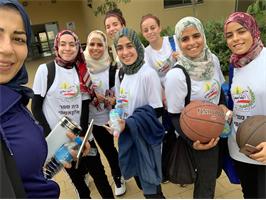 منتخب طالبات القاسمي الأهلية لكرة السلة يقدم مباراة راقية ضمن بطولة حيفا لهذا العام