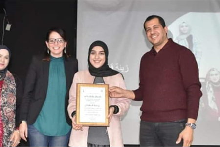 بصمة مميزة للطالبة الفعالة زينة عاطف قعدان في مشروع القيادة الشابة